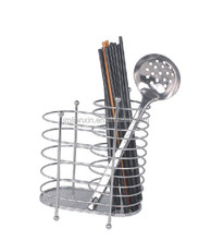 Hot-selling chrome metal kitchen cutlery holders