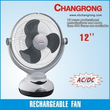 """emergence rechargeable 12"""" rechargeable electric table fan"""