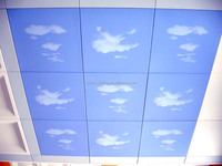 Aluminium suspended ceiling tile false ceiling blue sky white cloud CE AND ISO