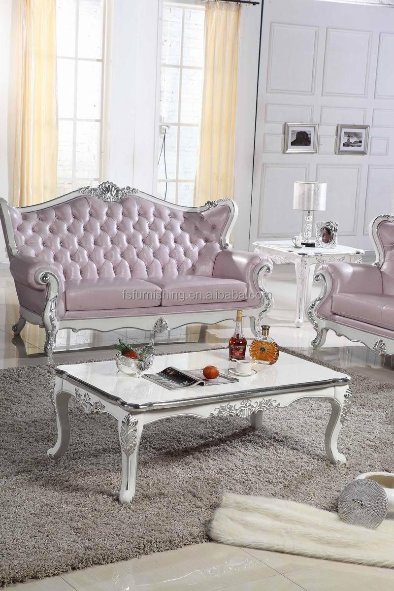 Kb068 luis xv roze parel glans leer wit hout gesneden kristal knop ...