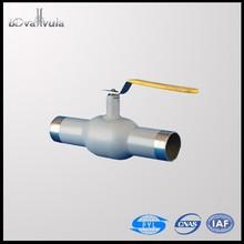 fully welding ball valve carbon steel water gas oil ball valve DN32