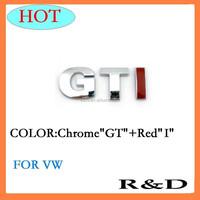 Good Quality Plastic GTI Silver Car ABS Chrome Custom Sticker Badge Emblem