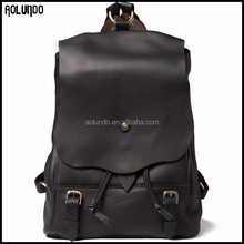 Latest design genuine cow leather backpack