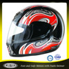 DOT low price hot selling black red full face helmet for motorcycle