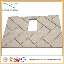 stove use vermiculite board baffle