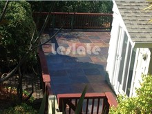Attracting and outstanding outdoor rusty slate paving stone
