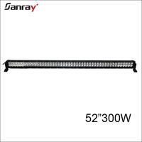 Straight housing 52 inch 300w offroad light bar