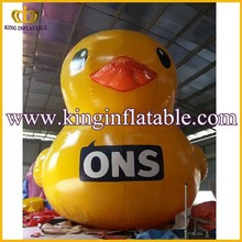 Funny Yellow Inflatable Animal Model, Air Tight Inflatable Duck For Advertising