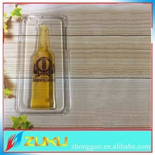 Beer carry case for iphone 6 plus, Tpu beer vodka bottle case