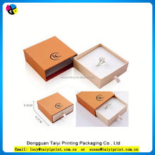Customized printed Attractive and reasonable price hot popular paper jewelry box packing