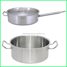 Hot Selling Stainless Steel Cookware Big Pot Sauce Pan Set For Restaurant