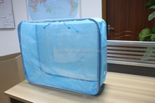 china supplier plastic carpet storage bag with wire frame