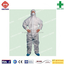 2015 hot sale disposable Fabric coverall, CrossGard 1500 Multi Ply SMS Fabric strong liquid and particle barrier Coverall