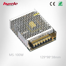 MS-100W MINI switch mode power supply with SGS,CE,ROHS,TUV,KC,CCC certification