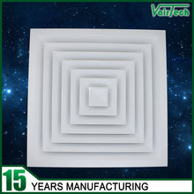 Popular hvac air supply square ceiling grilles and diffusers