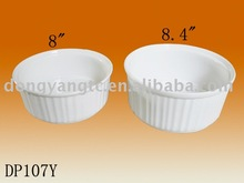 Factory direct wholesale 8 |8.4 inch round porcelain over plate