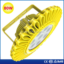 ATEX CE ROHS approved IP66 80w Explosion Proof LED Flood Lamp for Gas station, Explosion Proof LED Flood Light