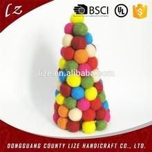 por mayor hechos a mano colgantes árbol de decoración artesanía navidad fieltro de lana bola del árbol decoración de eventos