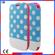 Made In China Smartphone Polka Dots Leather Phone Cover Mobile Phone Accessories For Motorola Moto E2 LTE XT1527