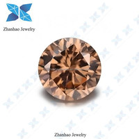 Round Semi Precious Brown CZ Stones for Jewelry