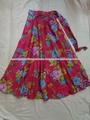 flor impresa faldas largas de venta al por mayor