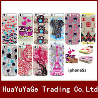 3D Paint Relief TPU soft phone case cover for Apple iphone 5 5S