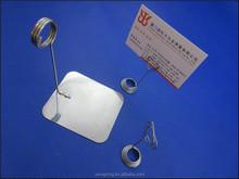 açoinoxidável negócios postcart presilha de metal titular do cartão