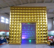 giant cube cheap inflatable arch for sale with led