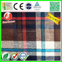 breathable comfortable 100 cotton yarn dyed woven fabric factory