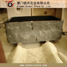 Único tigela granito preto pia Farm pia de cozinha pedra
