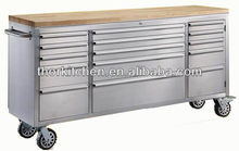Tool Chests & Roller Cabinets on wheel with bulk storage or multi drawers box rubber wood top
