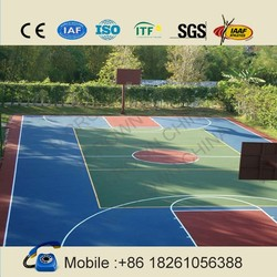 Manufacturer price: durable & professional inddor outdoor basketball courts flooring