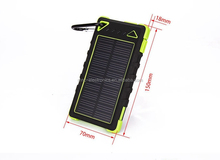 Dual usb port solar power bank for smart phones, green energy innovative outdoor sport solar charger, custom logo solar charger