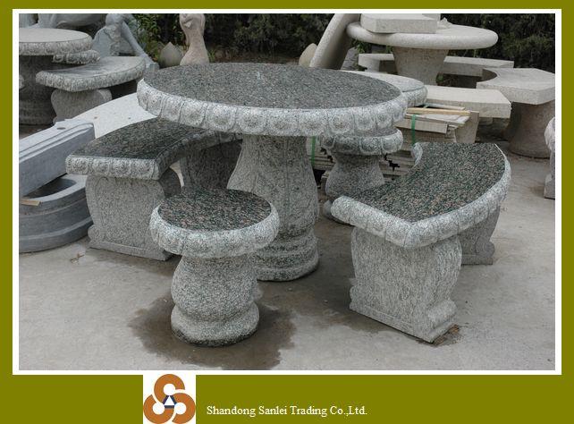 Outdoor mesas y bancos de jard n de piedra productos de for Bancos de granito para jardin