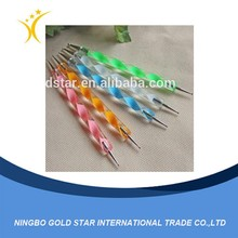 2015 New wholesale drawing flower 5pcs nail art brush point drill pen