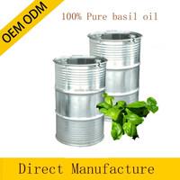 OEM/ODM Pure private label basil Essential Oil therapeutic grade for aroma massage oil whole sale price 180KG