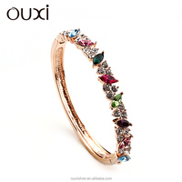 OUXI 2015 new arrival exquisite 18K rose gold plated designer fashion fancy bangles 50047