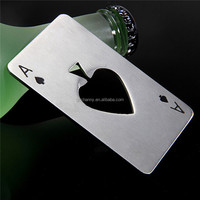 New Stylish Hot Sale 1pc Poker Playing Card Ace of Spades Bar Tool Soda Beer Bottle Cap Opener Gift Best Promotion