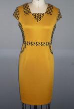 New Fashion elegant ladies formal office short sleave straight dresses for women