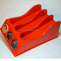 Vacuum forming acrylic display stand , thermoforming thick plastic display shelf product