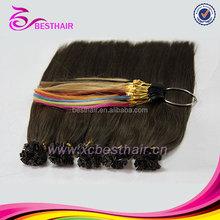 Top quality u tip hair !! wholesale 100 cheap remy u tip keratin human hair extension