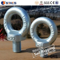 M30 High Strength Carbon Steel Drop Forged Galvanized Lifting Eye Bolt Din580