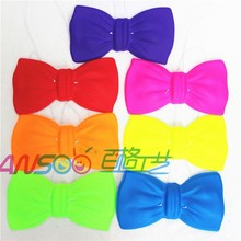 Middle size neon plastic decorative bowtie for parties and events