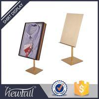 Quantity assured stainless steel universal shirt cardboard display