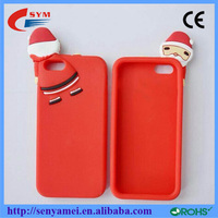 Christmas Design 2015 Silicon Rubber Covers For iPhone 6 Cases Shock Proof