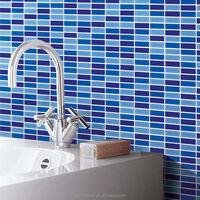 crystal glass tile sheets strip kitchen backsplash tile wall sticker tiffany mosaic tiles