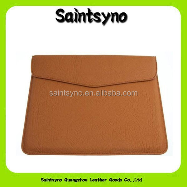 13027 Simple design leather case for ipad air