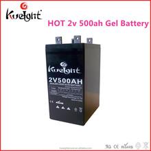 Innovative 2v 500Ah Gel Lead acid battery for the solar system/ups/lights
