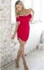 S1521Amazing off-shoulder short red designer one piece party dress