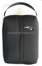 2015 New Mesh Black Color Golf Shoe Bag With Zipper And Handle